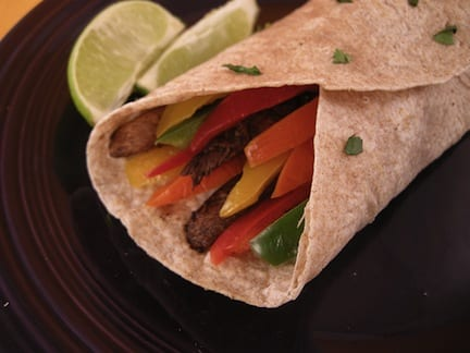 Portobello and Pepper Fajitas