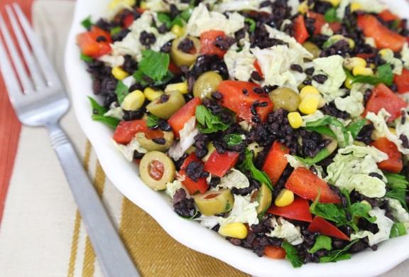 Olive rice salad