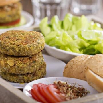 Vegan chickpea burgers recipe