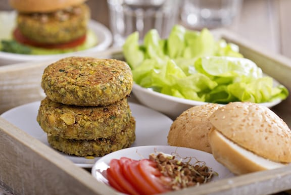 Vegan chickpea burgers recipe