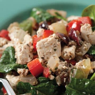 Greek Tofu Scramble by Julie Hasson