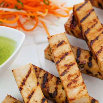 Grilled Tofu on the Barbecue