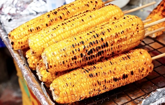 Grilled Corn Kebab