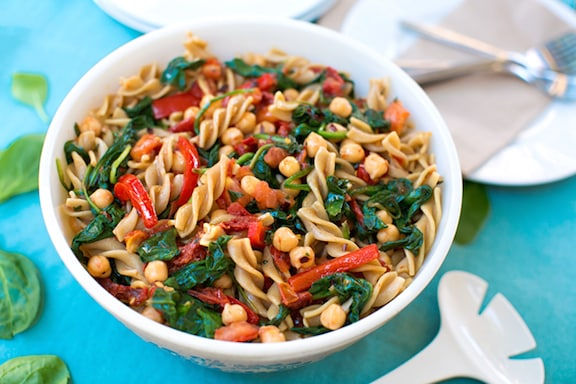 pasta combined with greens and beans is a classic combo and this one ...
