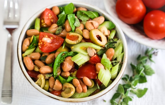 Pinto Beans with Watercress or Arugula salad