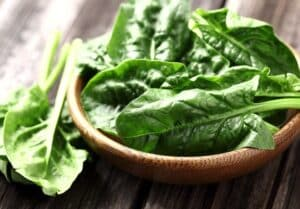 Raw Spinach in bowl
