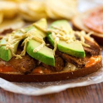 Avocado Tempeh Reuben Sandwich recipe