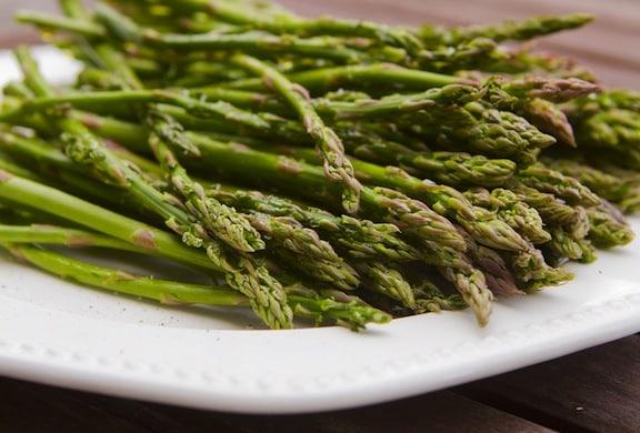 slender asparagus spears