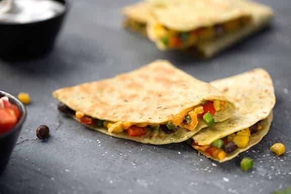Vegan Bean and corn quesadillas recipe