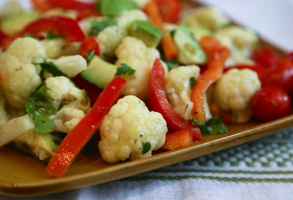 Cauliflower & Avocado Salad