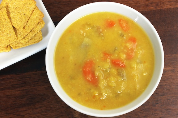 Vegetarian/vegan Yellow Split Pea Coconut Soup