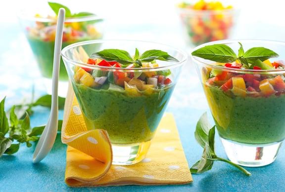 Green Gazpacho with Tomatillos