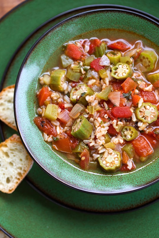 Okra rice soup recipe
