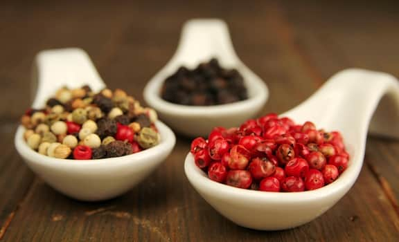 Peppercorn varieties