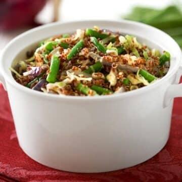 Quinoa with green beans recipe