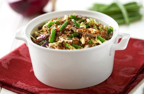 Quinoa with green beans recipe