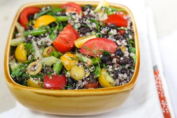 Herb Garden Couscous or Quinoa and Black Bean Salad recipe