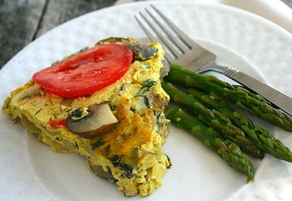 Crustless vegan tofu quiche reciep