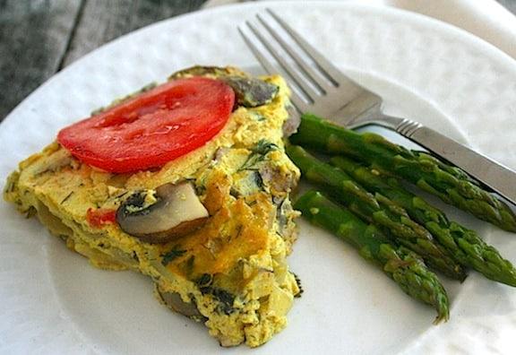 Crustless vegan tofu quiche reciep