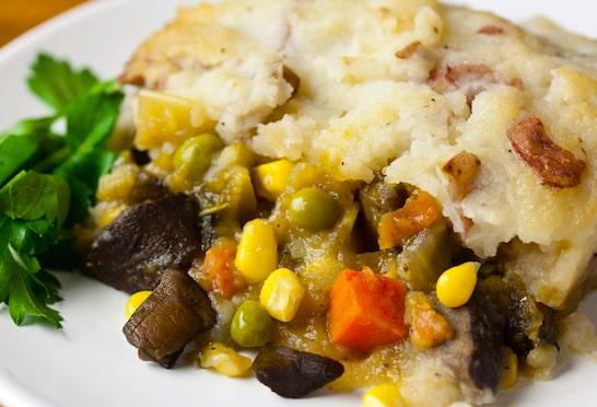 Vegan veggie-filled shepherd's pie recipe