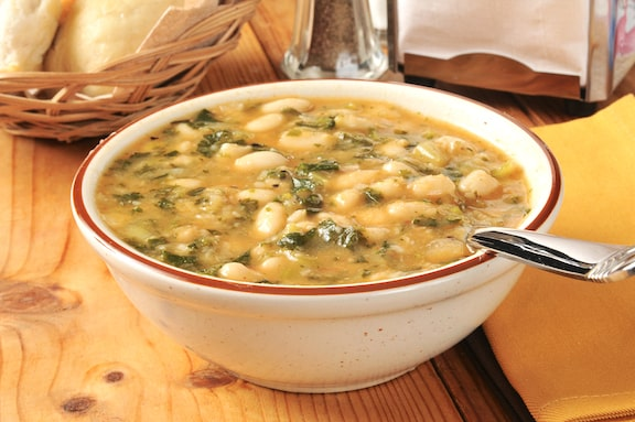 Tuscan white bean and greens soup