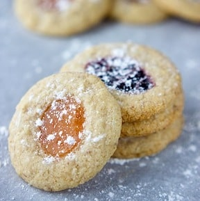 almond thumbprint cookies - vegan and gluten free