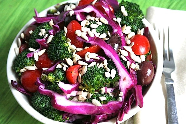 Broccoli Red Cabbage Salad - 2