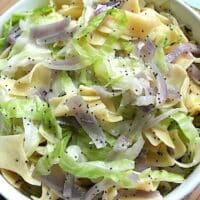 Hungarian Style Noodles with Cabbage