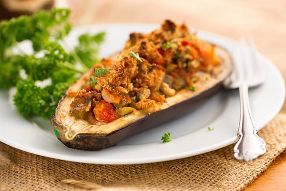 Creole stuffed eggplant recipe