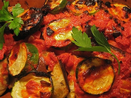 Briam (Casserole) of Eggplant and Zucchini