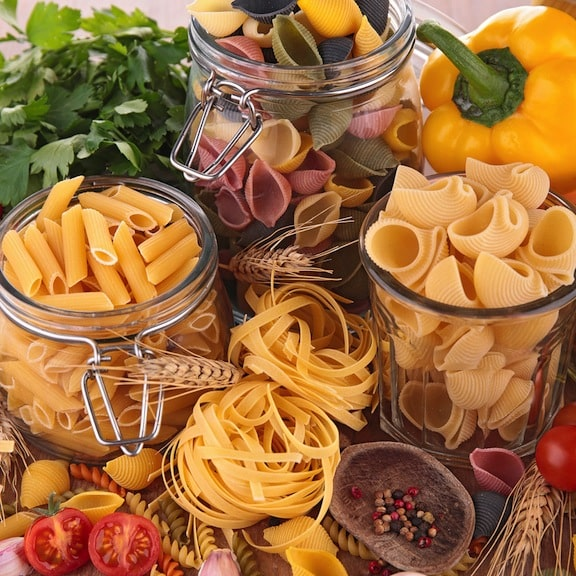 many varieties of pasta