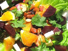 Roasted Beet Salad; photo by Ellen Kanner