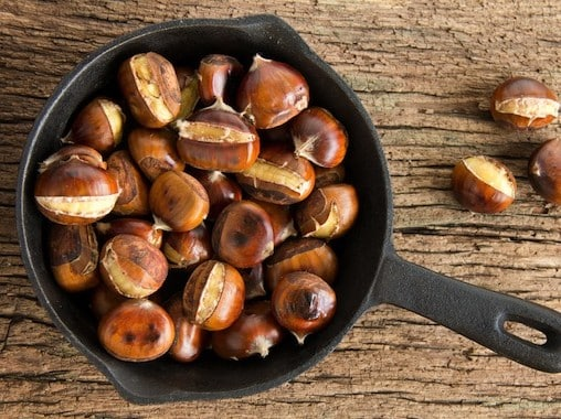 Roasted chestnuts for American wholefoods cuisine