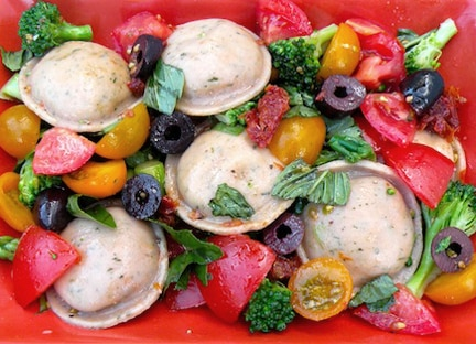 Tomatoes with Ravioli