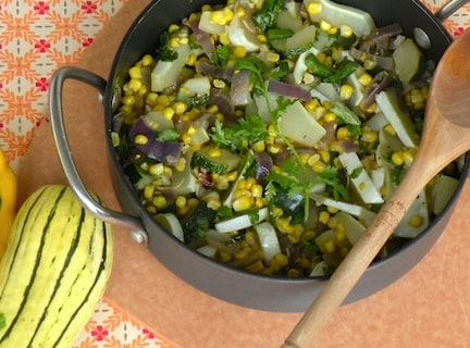 summer squash and corn sauté
