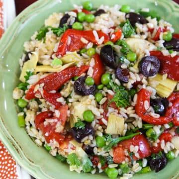 Piquant rice salad