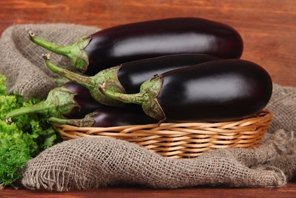 Eggplants in a basket2