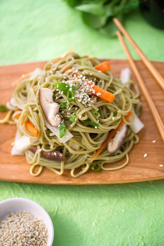 Japanese Noodles with daikon and carrots