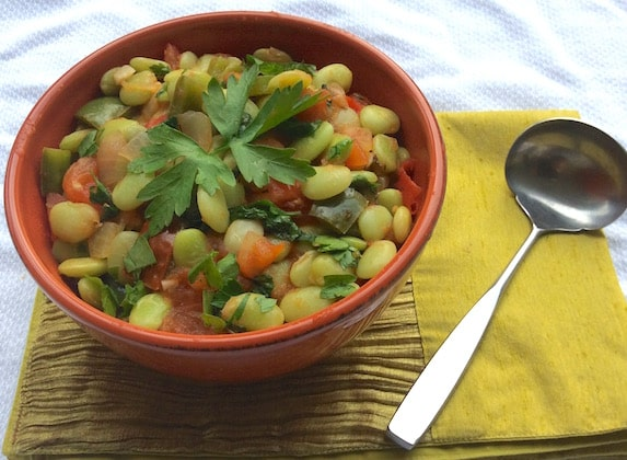 Southern Lima beans recipe
