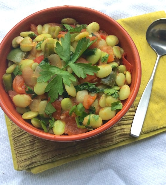 Southern-style Lima beans