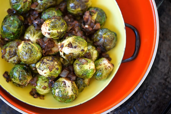 vegan Thanksgiving; Balsamic Brussels sprouts