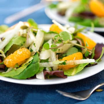 Jicama salad with oranges and watercress