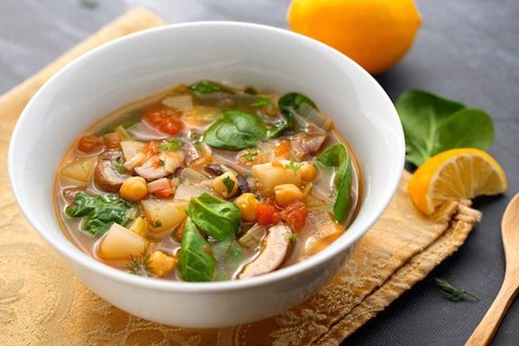 Lemony Leek and Mushroom Soup