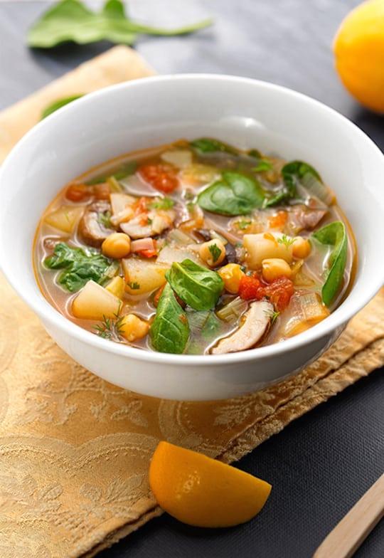 Lemony Leek and Mushroom Soup recipe