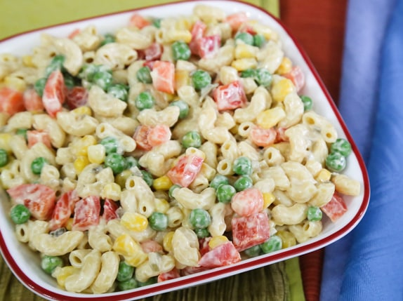 Macaroni Salad With Vegetable Confetti