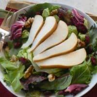 Pear, Walnut, and Cranberry Salad