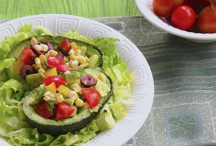 Stuffed avocado salad recipe