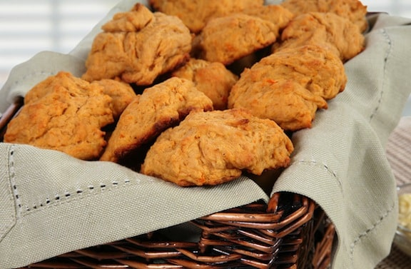 Soft Vegan Sweet Potato Dinner Biscuits