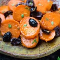 Sweet potatoes with olives