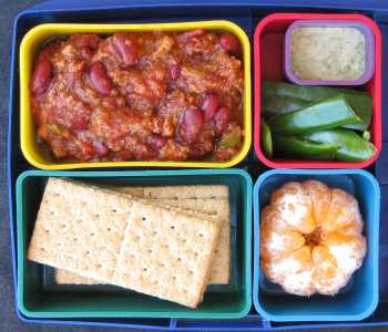 vegetarian chili in bento box